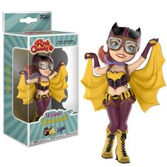 Buy Batgirl - Rock Candy Vinyl Figure at Mighty Ape NZ. Your favourite DC Bombshell joins Funko's Rock Candy series! The heroic Batgirl is posed in a fun, action-ready pose as a stylized vinyl figure. Batgirl, Madrid Barcelona, Paw Patrol, Dc Universe, Dc Comics Bombshells, Harley Quinn, Vinyl Figures, Action Figures, Modeling