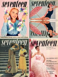 Are you serious?? Vintage seventeen magazine covers (>v<)/~yea