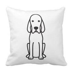 Redbone Coonhound Dog Cartoon Throw Pillows
