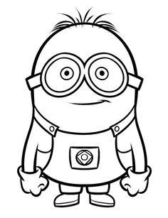 Minions Tegninger til Farvelægning. Printbare Farvelægning for børn. Tegninger til udskriv og farve nº 8