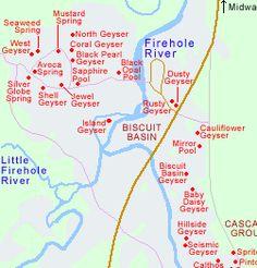 Map of Midway Geyser Basin | Yellowstone National Park/Grand Teton ...