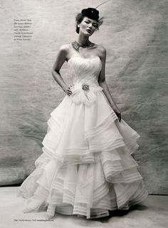 paying homage to Irving Penn - Weddingbells: La Femme | Photography: Chris Nicholls | Styling: Tara Williams