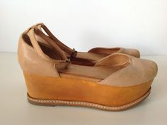 JEFFREY CAMPBELL Tan Brown Leather Handmade Havana Last Suebee Sandals 5M #JeffreyCampbell #Sandals #Casual