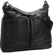 OiOi Wickeltasche aus Leder, in Taschenformat mit Zebra-Futter und Zubehör
