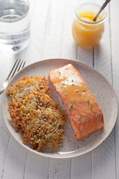 Lemon Curd Salmon wi