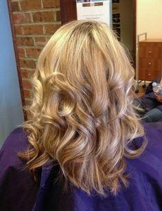 highlight w/ flat iron curls #tsdhair