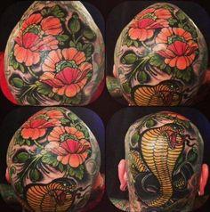 Tattoo by Annie Frenzel, German Hammer Tattoo Hammer Tattoo, Piercings, Piercing Tattoo, Bild Tattoos, Hot Tattoos, Scalp Tattoo, Bald Girl, Professional Tattoo, Tattoo Parlors