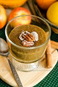 Apple pie chia pudding. Chia seeds are so good and so good for you.