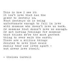 never love itself