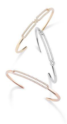 Best Diamond Bracelets : Check out these new Isabelle Brooke diamond cuffs. Per… - Diamond Jewelry Sapphire Bracelet, Diamond Bracelets, Diamond Jewelry, Jewelry Bracelets, Silver Jewelry, Diamond Earrings, Jewellery, Saphir Rose, Diy Jewelry