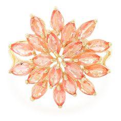 Bague pour femme en or sertie de Saphirs Padparadscha Réf 5985UF - Bijoux Juwelo