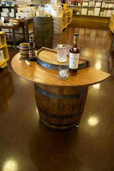 Traveling Tasting Bar, If Itu0027s Not Too Heavy! KegWorks Barrel Bar    Handcrafted Home Bar Decor   Perfect For In Front Of The Keezer Or In The  Mancave ...