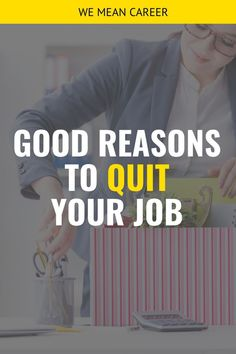 Are you thinking about quitting your job? Do you have a good reason for it? Read our article and discover 23 reasons to move on, and feel good about it. Find A Job, Get The Job, Leadership Traits, Workplace Bullying, Finding A New Job, Feeling Appreciated, Job Search Tips, Confidence Tips, Job Interview Tips