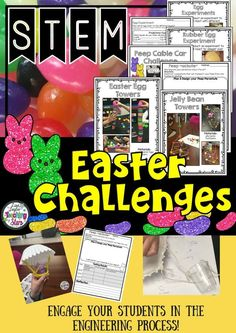 Easter STEM Challenges is a packet of six experiments or challenges your students will love! Students plan, design, engineer, and collect data as they are having fun before Easter!  Includes