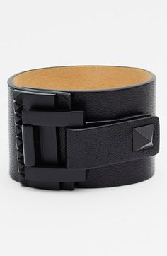 Vince Camuto 'Tour of Duty' Studded Buckle Wrap Bracelet available at #Nordstrom