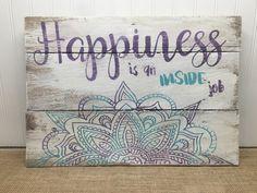 Rustic Pallet Wall Art Mandala Sign by MrsSBarefootStudio