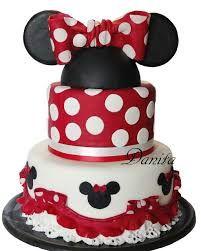 Resultado de imagen para torta minnie roja