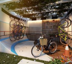 Perspectiva Ilustrada Bike Atelier