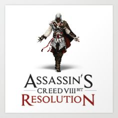 ASSASSIN'S CREED VIII BIT : RESOLUTION Art Print by Marco Lilliu - $14.56