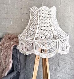 Hey guys, so my Etsy store is now live! There are only a select few items available for now but will be adding more soon.most exciting is… Macrame Art, Macrame Projects, Macrame Knots, Diy Abat Jour, Lampe Crochet, Rustic Lamp Shades, Macrame Patterns, Lampshades, Etsy Store