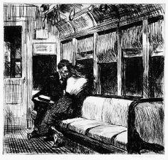 Night on the El Train, Edward Hopper, 1918