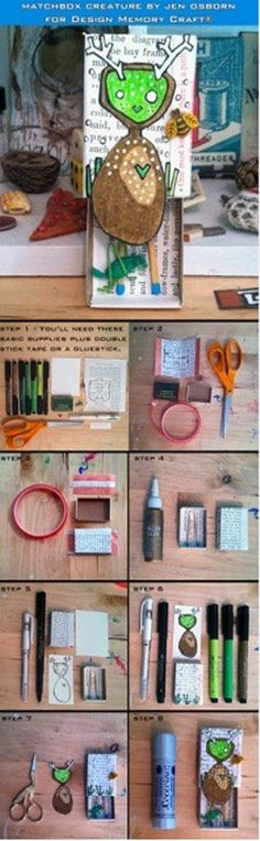 Here's how I made my little artsy matchbox for Kelley Frisby using PITT ® Artist Pens by Faber-Castell Design Memory Craft ®
