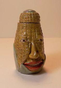 SWEET CORN - Anthropomorphic Spice Jar - Face Jug  in Pottery & Glass, Pottery & China, Art Pottery, Folk | eBay