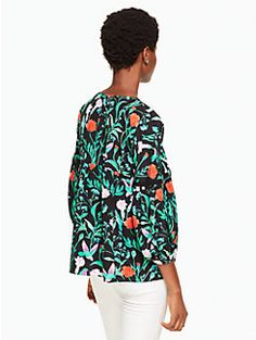 jardin lace inset top by kate spade new york