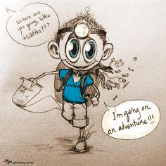 """""""Where are you going, #LittleHiddles?"""" - """"I'm going on an adventure!!!"""" #Tom_UnicefUK (by Hashtag_Genius 