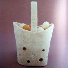 """eggbasket- from the book """"simple zakka and bag of felt wool"""", ISBN # 4-277-43072-4"""