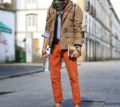YES YES YES. I mean, these orange pants are the shizz. #mystyle