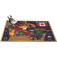 "Discovering Canada Carpet-5'10"" X 8'5"""