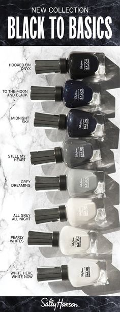 Complete salon manicure Black to Basics Beautiful Nail Designs, Cool Nail Designs, Hair And Nails, My Nails, Fancy Nails, Be Your Own Kind Of Beautiful, Beautiful Things, Strong Nails, Nail Envy