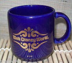 Walt-Disney-World-Spain-Ceramic-Cobalt-Blue-Mug-Cup