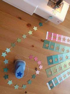 Günstige DIY Girlande mit Sternen
