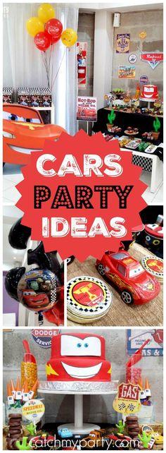 Cars Disney Movie Birthday Rafas Party