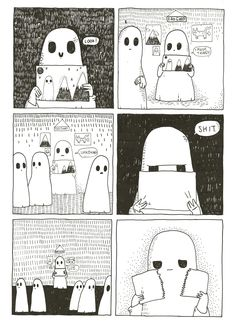 Page 8 - The Sad Ghost Club Zine I would never do that with anything I made! Still love the ghosts, though.