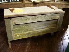 barn wood chest