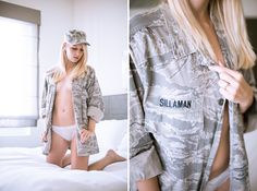 Sultry Air Force Bridal Boudoir Session - Modernly Wed