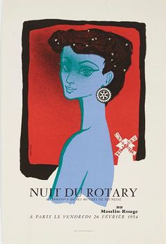 JEAN COLIN :: Nuit du Rotary // Our favorite purchase from the Intl Vintage Poster Fair