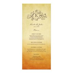 Discount DealsRustic Orange and Yellow Bohemian Wedding Menu Invitationsonline after you search a lot for where to buy