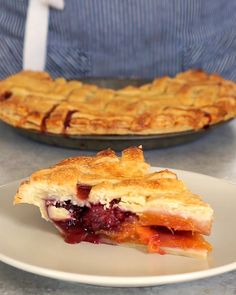 Peach And Blackberry Pie by Tasty