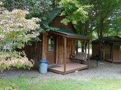 Bunky 1 Site #45 - These small bunkhouses provide the camping experience without a tent and a hard ground to sleep on.  Air conditioned for the limited summer months and heat for the winter or those cold nights during the early Spring and early Fall as well