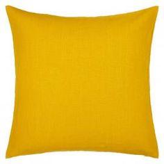 Saffron Linen Cushion | Yellow Cushion | Bedroom and Living room | Colours for Autumn | ColourPuff.com