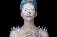 'Lady Frost' on Behance Ice Hair, Face Lace, Dark Beauty Magazine, Ice Queen, Portrait Inspiration, Frost, Make Up, Lady, Photography