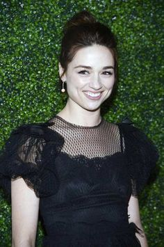Actress Crystal Reed attends the Vanity Fair and Juicy Couture celebration for the Vanities Calendar at the Chateau Marmont in West Hollywood, California February 18, 2013.