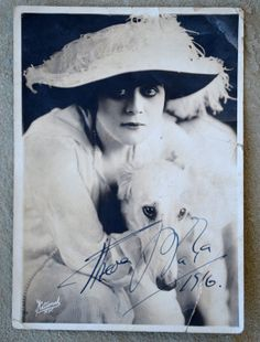 Autographed 1916 Photo of Theda Bara Silent by HighClassHighway, $99.00