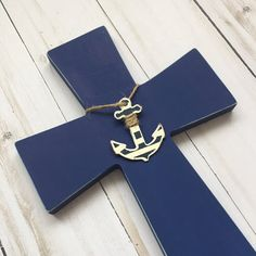 Nautical nursery decor https://www.etsy.com/listing/523060276/nautical-baby-gift-wood-cross-nautical