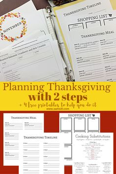 Prepare Thanksgiving Meal with TWO Steps! Meal Preparation, Thanksgiving Meal, Recipe Organization, Green Bean Casserole, Along The Way, Binder, Meals, How To Plan, Trapper Keeper