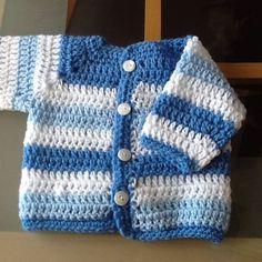 Baby boy cardigan#crochet#handmade#newborn#blue#babyshower#salford#mums#bots#salford by anitascrochet